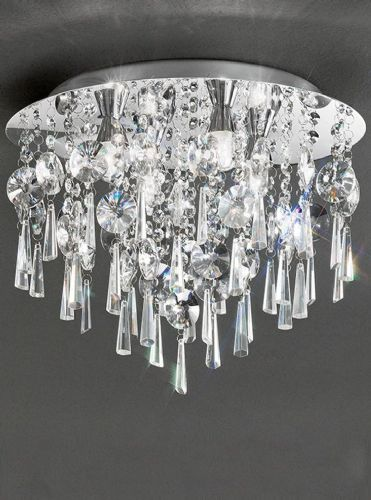 Franklite CF5719 Chrome Ceiling Light